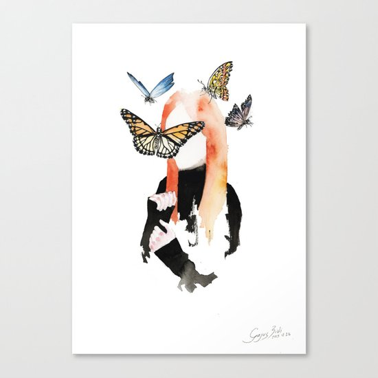 She is sensitive, but strong Canvas Print