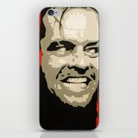 jack nicholson iPhone & iPod Skins featuring Jack Nicholson - Here's Johnny by Tipsy Monkey