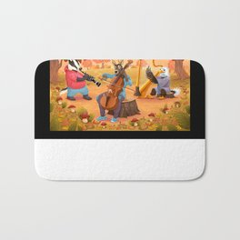Musician animals in the wood Bath Mat