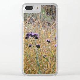 Autumn Verbena Clear iPhone Case