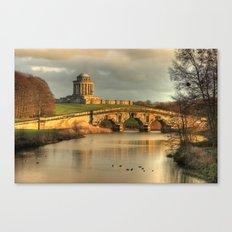 Castle Howard - New River Bridge and Mausoleum Canvas Print