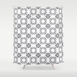 Grey Swirl Pattern Shower Curtain