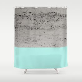 Bright Mint on Concrete #1 #decor #art #society6 Shower Curtain