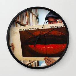 Soul Flutes Vinyl Lips Wall Clock