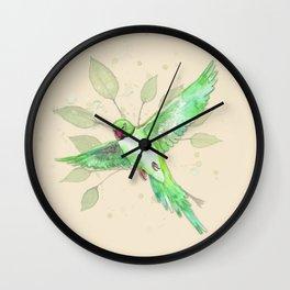 Indian Ringneck Parakeet Wall Clock