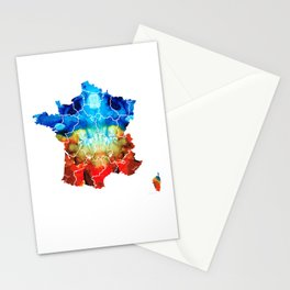 France - European Map by Sharon Cummings Stationery Cards