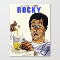 rocky Canvas Prints featuring Rocky by AdrockHoward