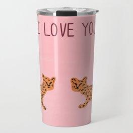 I love you cute tiger cubs  Travel Mug