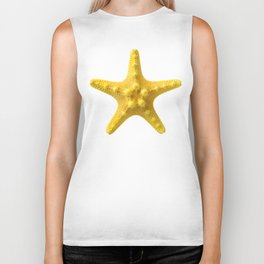 Yellow starfish Biker Tank