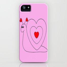Love Snail iPhone Case