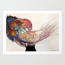 Jellyfish Brain Art Print