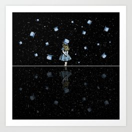 Starry Night Madness - Alice In Wonderland Art Print