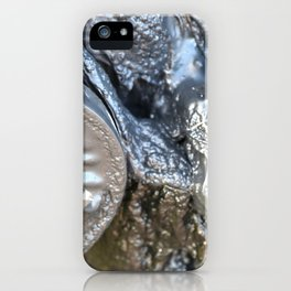 black plastic melts iPhone Case