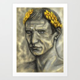 Golden Gaius Art Print