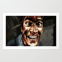 evil dead Art Prints featuring evil dead  by Kim_dv