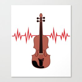Does Cello is the center of your Heartbeat? Grab this awesome tee now made perfectly for you!  Canvas Print