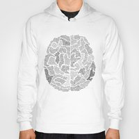 brain Hoodies featuring Brain by Albory