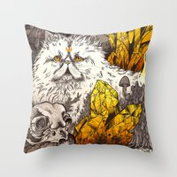 witchcraft Throw Pillows featuring Witchcraft by Angela Rizza