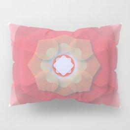 Pink Floral Meditation Pillow Sham