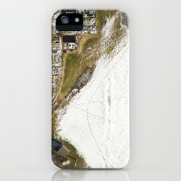 Snow Field & Garden  |  Drone Photography iPhone Case