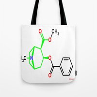 cocaine Tote Bags featuring Cocaine by TLineInc