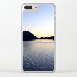 Salish Sea Sunset - Canada Clear iPhone Case