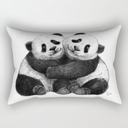 Panda's Hugs G143 Rectangular Pillow