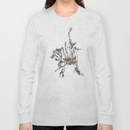 rowan branch with dried leaves and berries Long Sleeve T-shirt