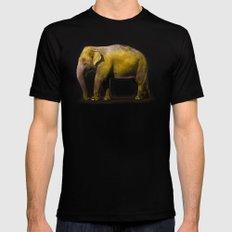 Elephant in New York Black Mens Fitted Tee MEDIUM