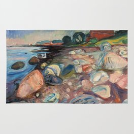 Shore with Red House by Edvard Munch Rug