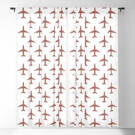 Coral Pink Airplanes Flying Pattern Blackout Curtain