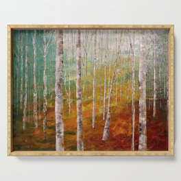 Birch Tree Forest Serving Tray
