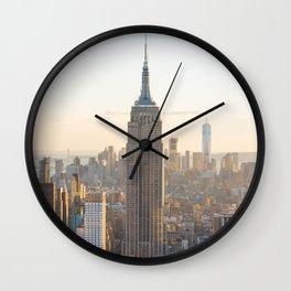 Golden New York Wall Clock