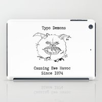 typo iPad Cases featuring Typo Demons by Ash K. Alexander