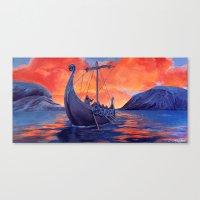 vikings Canvas Prints featuring Vikings by Danielle Miller