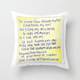 The Breeze Flows... (Pillow Talk) Throw Pillow