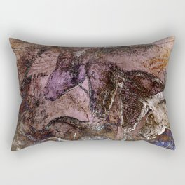 Chauvet Cave Horse Heads II Rectangular Pillow