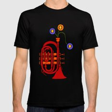 Happy to see my pocket trumpet SMALL Mens Fitted Tee Black