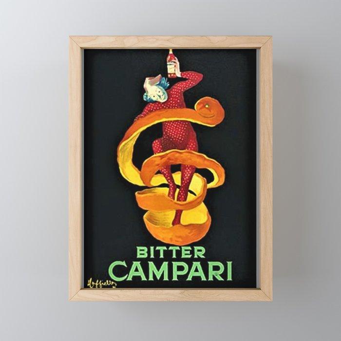 Colorful Bitter Campari Spirits Vintage Advertisement Framed Mini Art Print