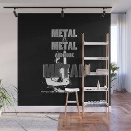 Metal, Metal and More Metal Wall Mural