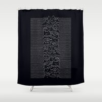 joy division Shower Curtains featuring Joy Division by Tobe Fonseca