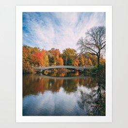 Bow Bridge Autumn 01 Art Print