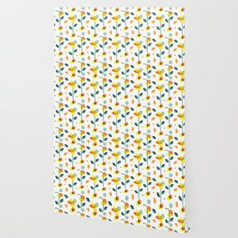 Wonderland floral illustration pattern creative design interior design Wallpaper