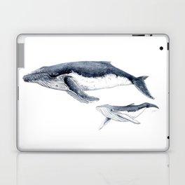 Humpback whale with calf Laptop & iPad Skin