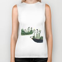 ships Biker Tanks featuring Ships by kiwiroom