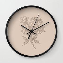 Peony Rosa Wall Clock