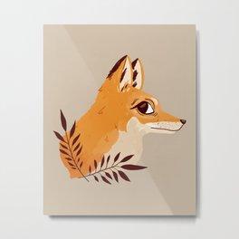 Fox Familiar Metal Print