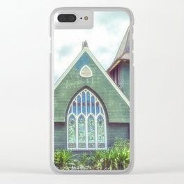 Hanalei Church, Kauai, Hawaii Clear iPhone Case
