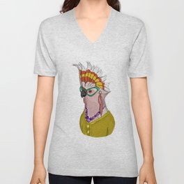 Sophisticated Bird Print Unisex V-Neck