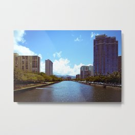 Ala Wai Waterway Metal Print